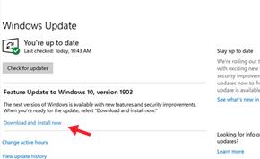 现在所有Windows 10 V1809用户均可在系统更新里设置拒绝V1903版更新