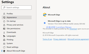 Microsoft Edge测试版已经开始向用户提供每日更新/支持自动更新