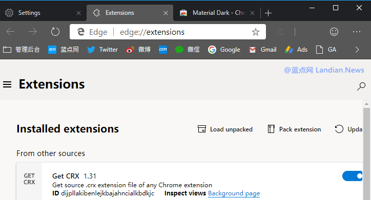 怎么给Microsoft Edge浏览器安装谷歌浏览器系列外观主题