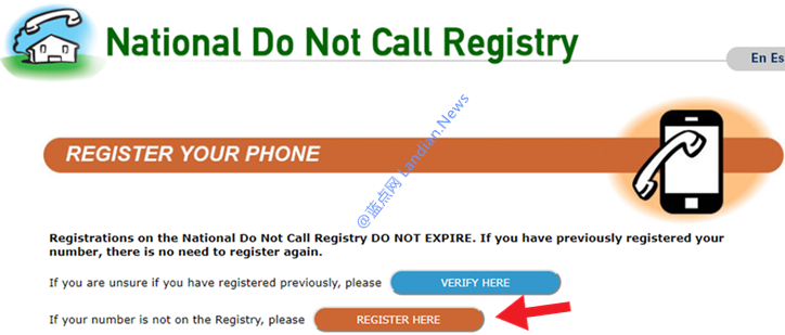 LYCA/GV或其他美国手机号码注册拒绝推销服务(DO NOT CALL)