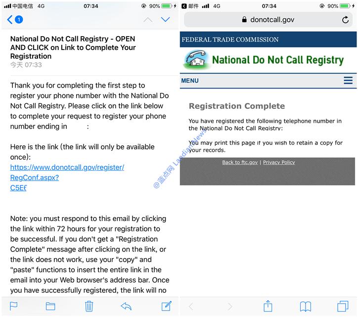 LYCA/GV或其他美国手机号码注册拒绝推销服务(DO NOT CALL)-第8张