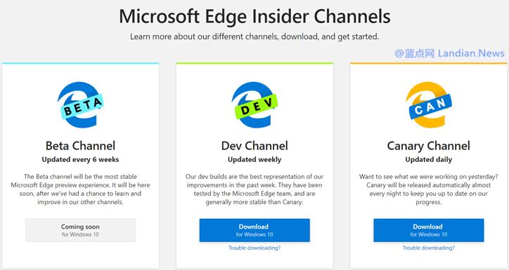 Microsoft Edge Beta及稳定版已经泄露 不过与其他版本并无不同