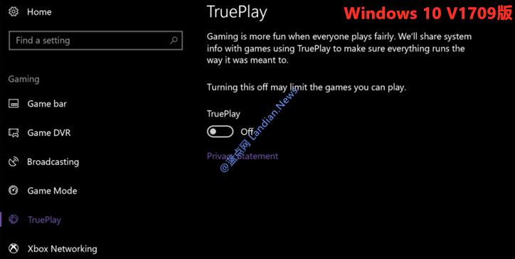 微软已经悄悄从Windows 10里将UWP TruePlay游戏反作弊功能删除