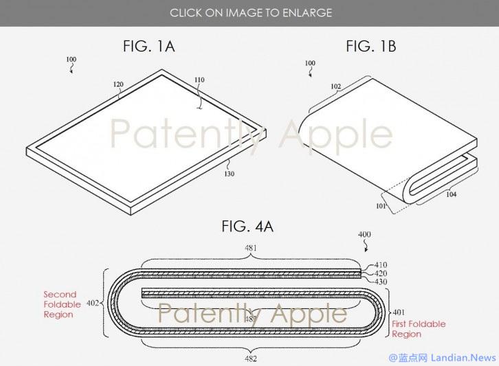 新专利揭露苹果柔性屏可折叠设备iPhone Fold在设计方面的概览