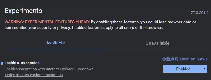 Microsoft Edge现在已经可以调用IE打开页面但当前仍然不是集成的-第1张