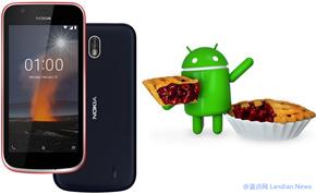 HMD公司目前已经向入门级安卓设备Nokia 1推送Android 9版更新