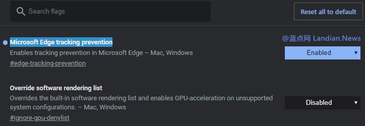 微软已经为Microsoft Edge浏览器添加类似火狐的跟踪防护服务-第1张
