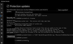 微软推送Windows Defender自定义更新解决SFC修复命令运行失败问题