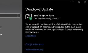 微软继续改进Windows 10更新页面 对即将停止支持的版本发出提示