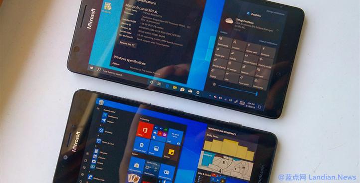 面向Lumia 950提供的Windows 10 on ARM版现已支持通知震动等功能