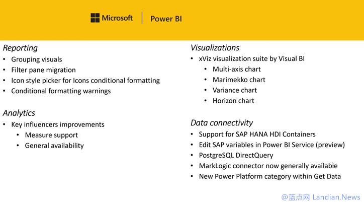 来自微软的数据可视化工具 Power BI Desktop 获得 8 月更新 所有新功能速览
