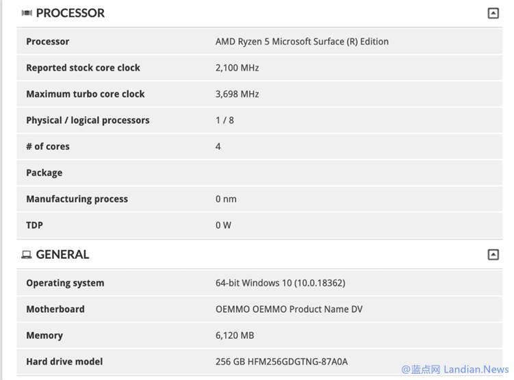 微软Surface真的采用AMD处理器了 泄露的3DMARK测试结果已实锤