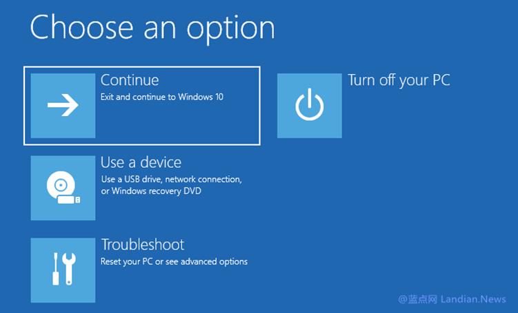 Windows 10云重装现已支持在无法进入系统通过RE环境保留数据重装
