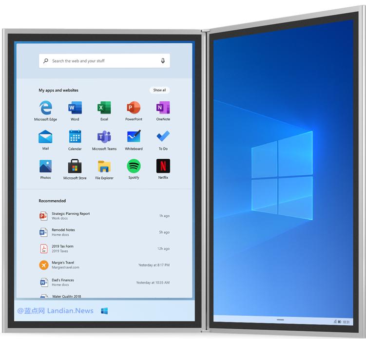 新报告称为可折叠设备定制的Windows 10X目前仍然不成熟不适合使用