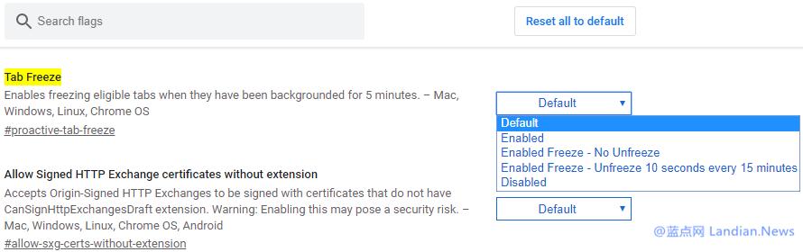基于降低内存使用率考虑谷歌浏览器正在继续改进后台标签冻结功能