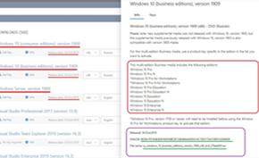 微软发布Windows 10 v1909 RTM版镜像 暂时仅供MSDN订阅用户下载