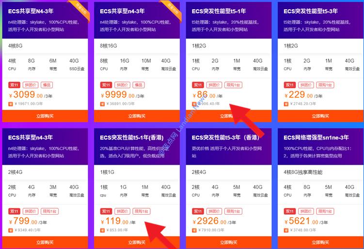 阿里云双11活动新老用户同享专场上线 新用户86元/年起老用户享8折优惠