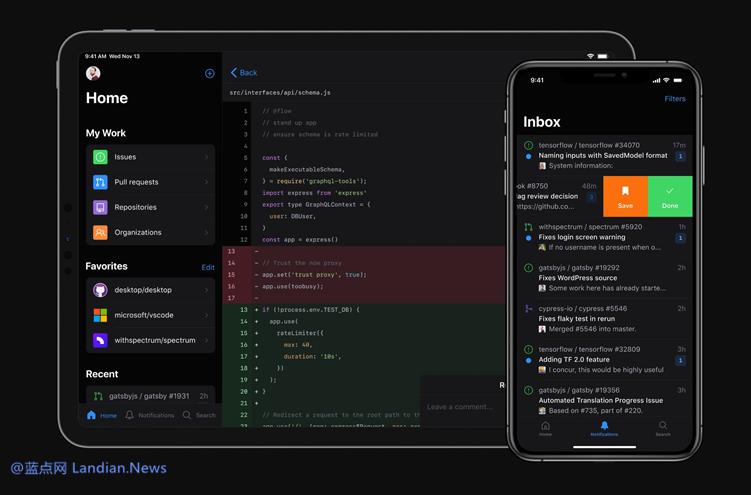 知名代码托管平台GitHub终于决定推出官方移动应用程序供开发者们使用