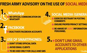 印度军方警告军人不要使用脸书等社交网络 警惕虚假的精神导师和美人计