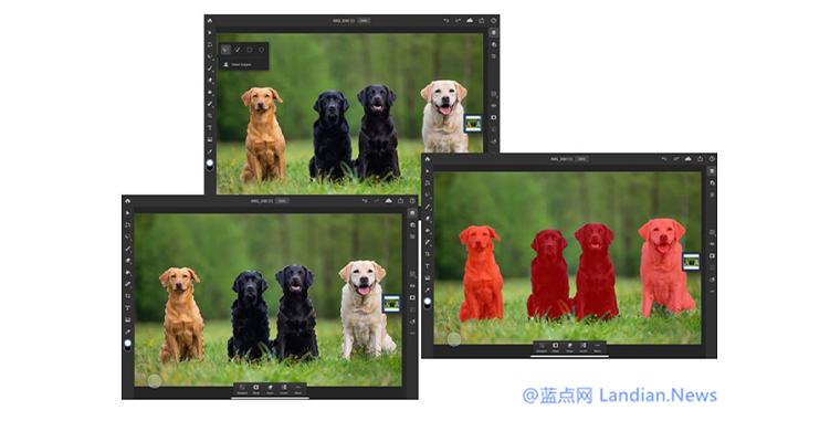 "Adobe现已为iPad版Photoshop提供""选择主体""功能 Sensei AI一键抠图"