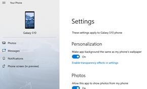 微软继续更新Windows 10你的手机支持读取安卓壁纸设置为背景图片