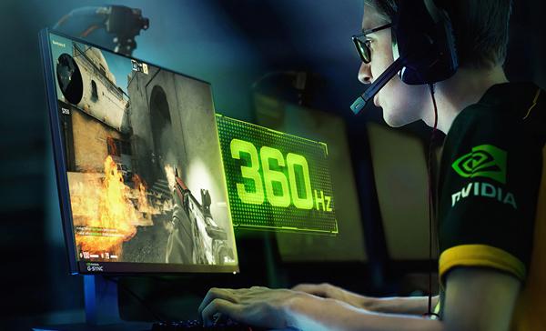 全球首款:英伟达宣布推出具有360Hz超高刷新率的G-SYNC电竞显示器
