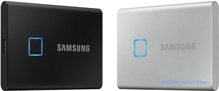 三星推出带有指纹识别认证和AES加密的便携式固态硬盘T7 Touch版