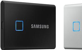 三星推出带有指纹识别认证和AES硬件加密的便携式固态硬盘T7 Touch版