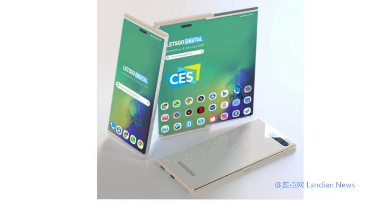三星在CES设置私密展台展示卷曲屏手机 只需按一下按钮就可以展开屏幕