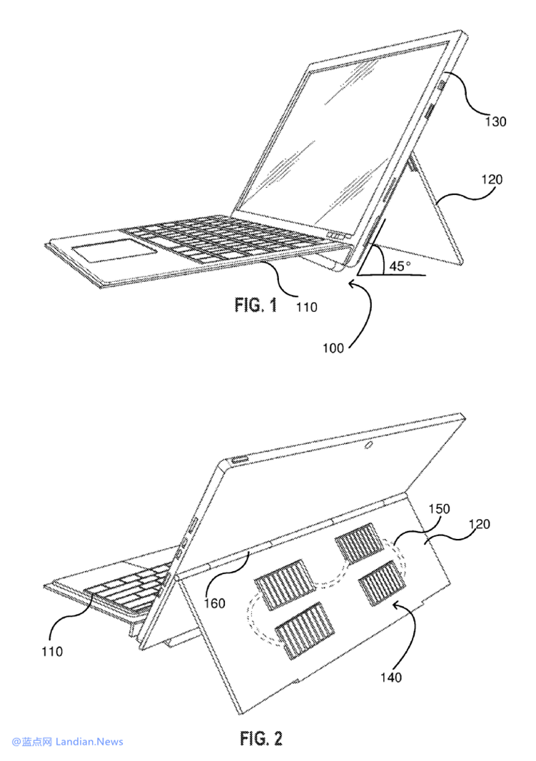 专利显示微软希望在Microsoft Surface支架上安装太阳能电池板进行充电