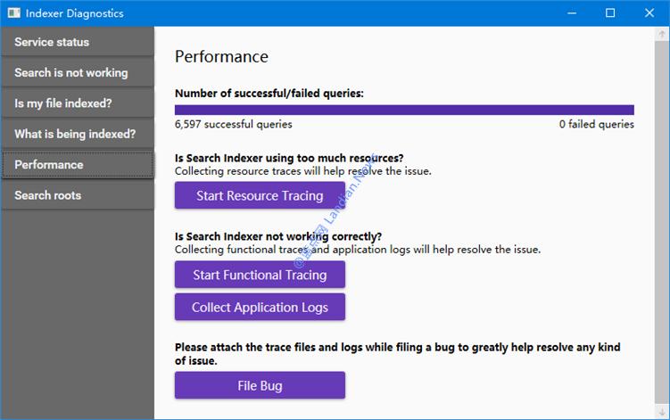 微软推出适用于Windows 10搜索功能的搜索诊断工具分析文件索引问题
