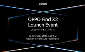 OPPO宣布将在MWC 2020大会上推出OPPO Find X2 搭载50W无线充电