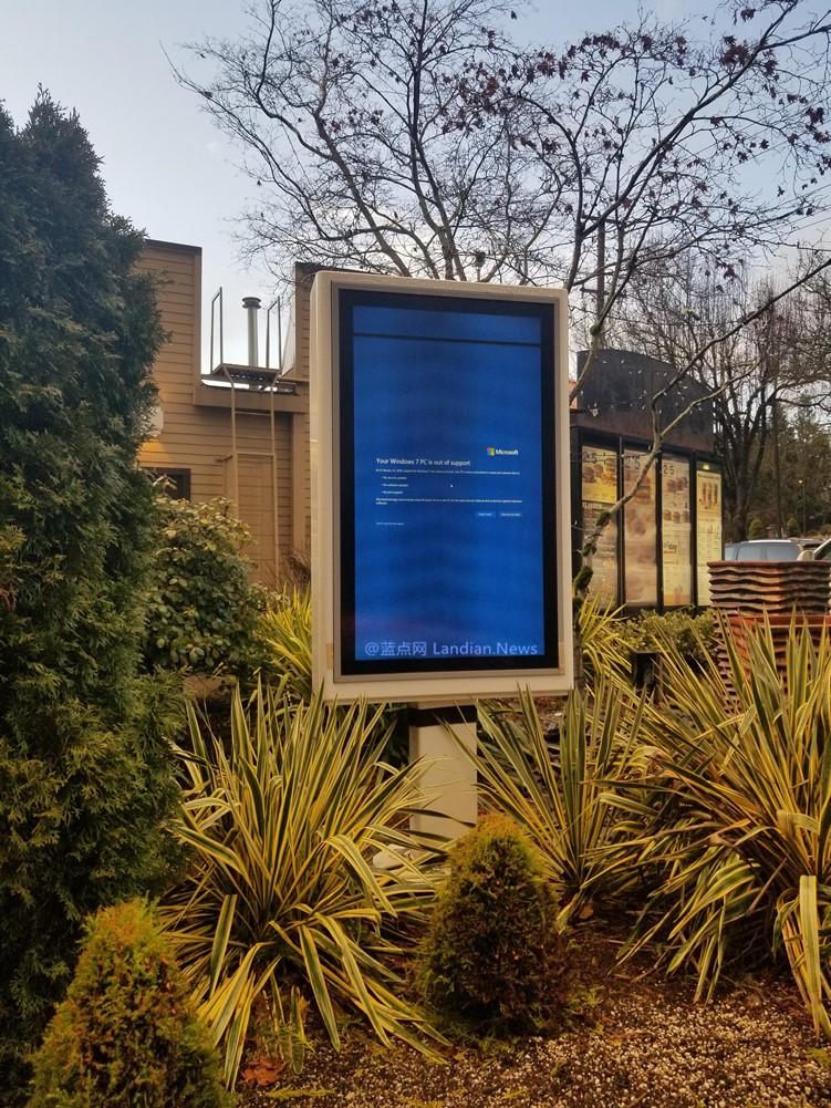 当Windows 7系统结束支持后全球各地出现的景象...