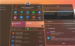 [视频] 国外设计师基于Windows 10X版风格构建的开始菜单和模块化控件