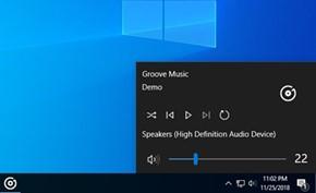 微软可能会调整Windows 10音量控制按钮 与媒体播放控制按钮进行融合