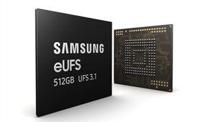 三星今日宣布用于旗舰智能手机的512GB UFS 3.1存储芯片开始批量生产