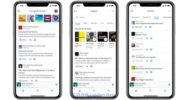 Google 播客iOS版正式发布 界面采用iOS系统设计风格来重新设计