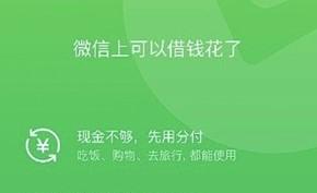 腾讯微信版的花呗已经开始面向部分用户提供 但没有免息期利率还比较高