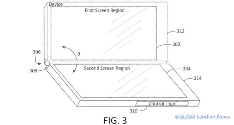 微软继发布Surface Duo之后又提交了一项搭载三块显示屏的手机的专利