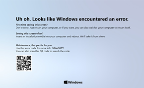 紧随潮流的设计师为Windows 10蓝屏死机界面带来深色模式和浅色模式