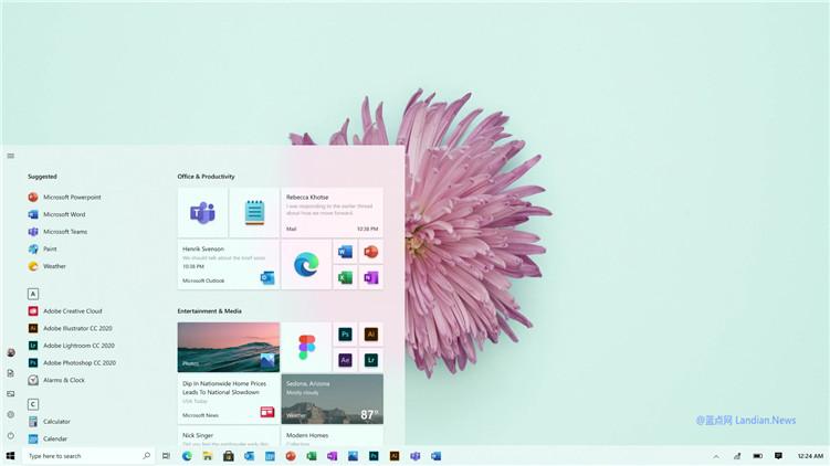 微软设计团队展示Windows 10即将发布的新版开始菜单演示视频