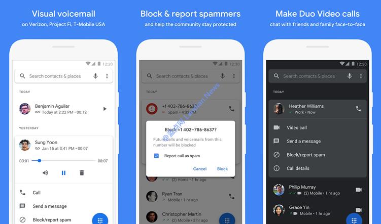 谷歌推出的电话应用(Google Phone)现在支持更多设备从商店安装使用