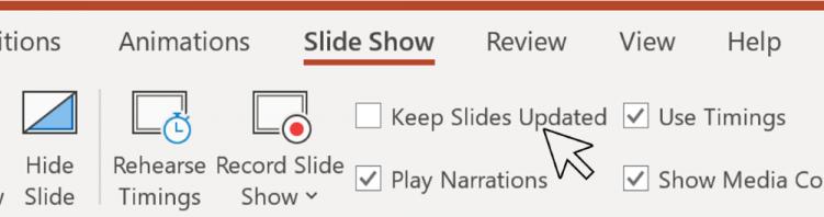 Microsoft PowerPoint测试版新增播放幻灯片时不退出播放而修改幻灯片