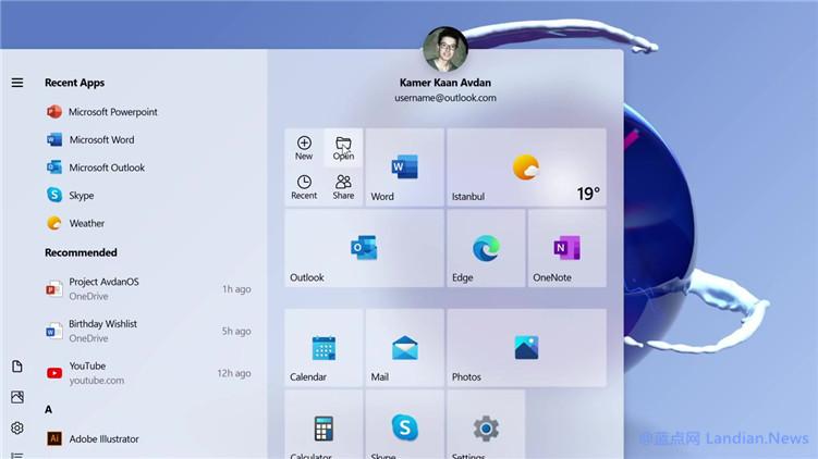 [视频] 设计师基于微软流畅设计体系制作Windows 20系统的演示视频