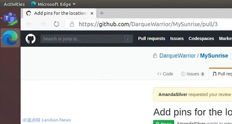 微软工程师在Build 2020直播环节中出现Microsoft Edge for Linux版
