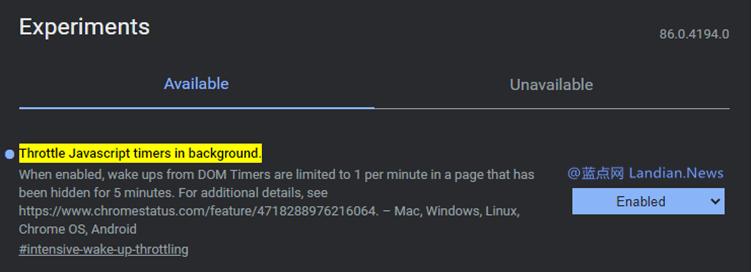 谷歌浏览器正在通过限制非必要的JavaScript脚本降低功耗提高整体续航时间