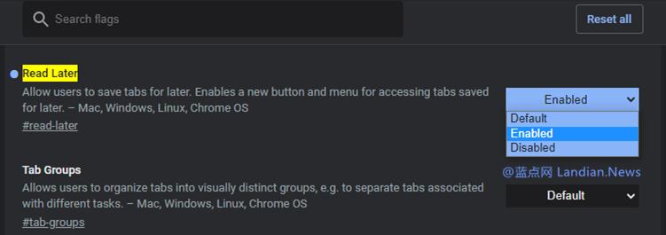 谷歌浏览器正在完善PC版的稍后阅读功能 添加到列表后会集中起来