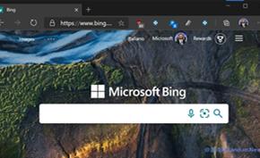 微软在必应搜索里测试新的品牌形象 彩色田字变成纯白色使用加粗文字