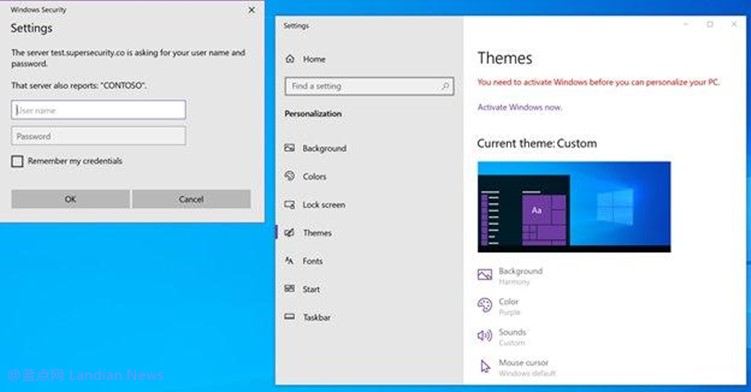 研究人员发现Windows 10主题功能存在漏洞 微软表示是设计特性拒绝修复