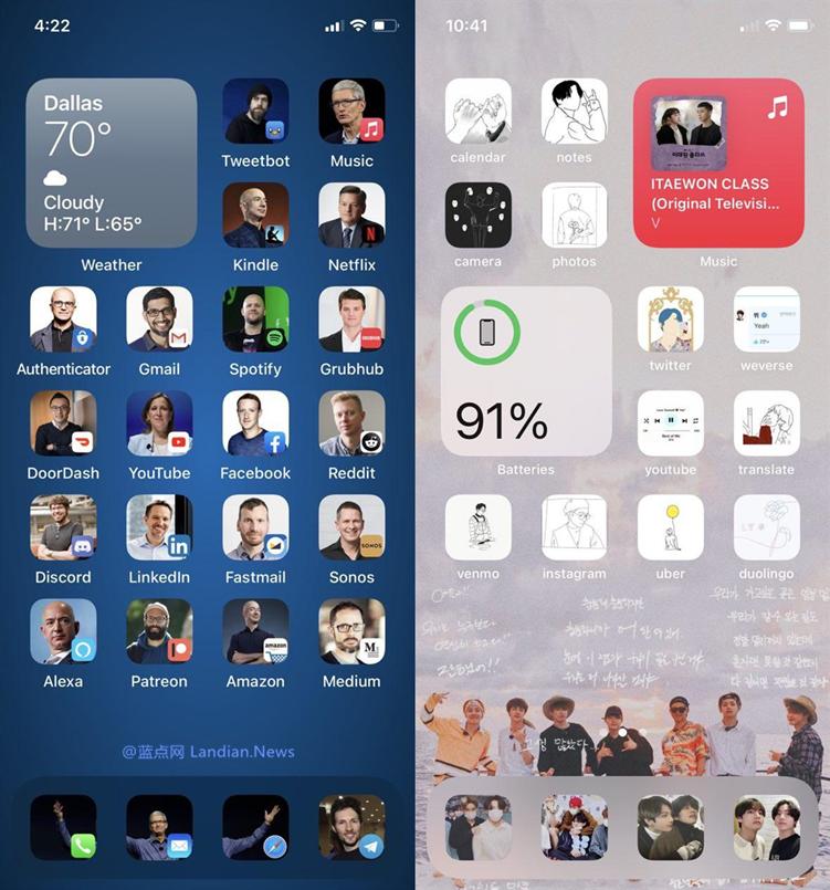 万万没想到!iOS 14竟然支持换桌面主题了?APP图标还可能随意更换?